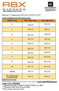 motorex abx express rate cheapest courier service in malaysia